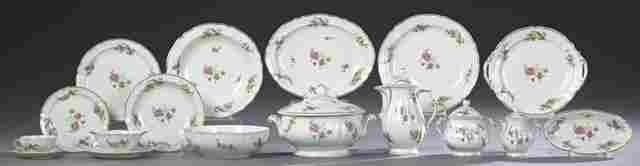 One Hundred Fourteen Piece Set of Limoges Porcelain