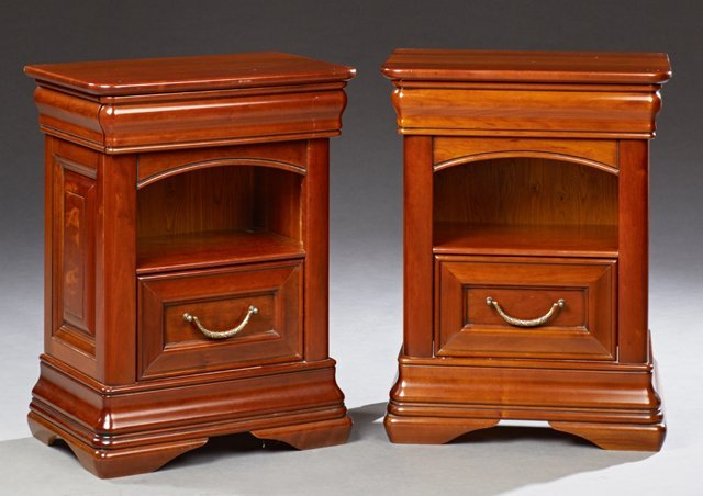 Pair of French Louis Philippe Style Carved Cherry