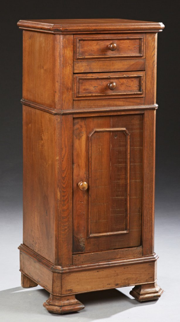 French Tall Louis Philippe Carved Oak and Mahogany