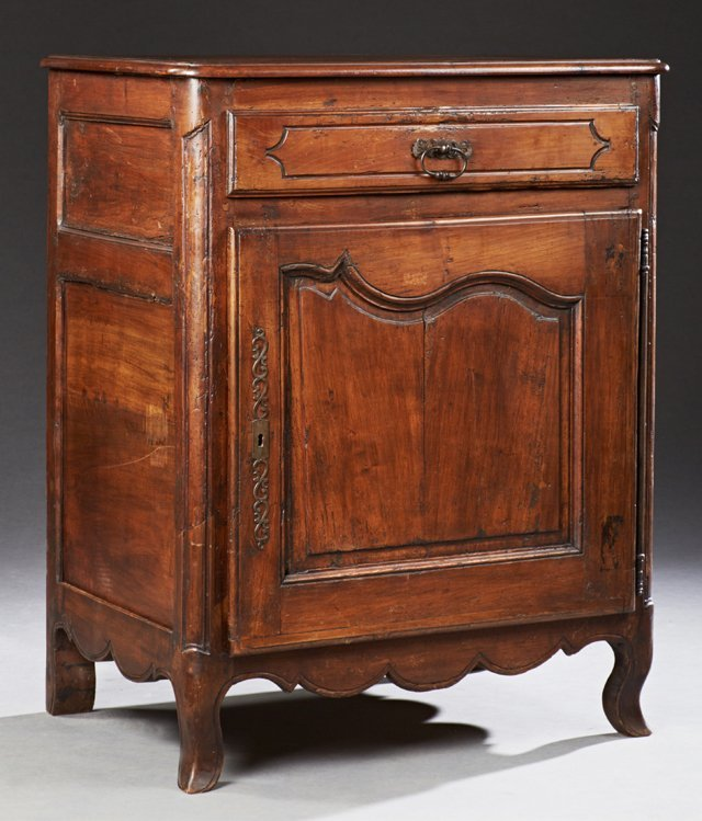 French Louis XV Style Carved Cherry Confiturier, 19th