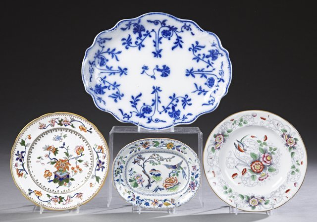 Group of Four English Ironstone Pieces, 19th c.,