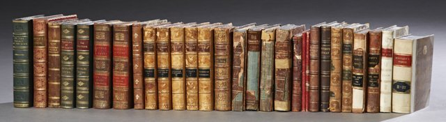 Group of Forty-Three Decorative Leather Bound Books, - 2