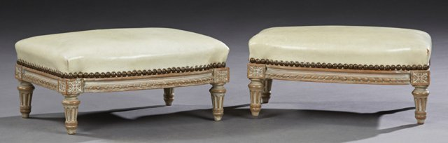 Diminutive Pair of French Louis XVI Style Beech