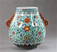 Large Chinese Baluster Umbrella Stand, 20th c., with