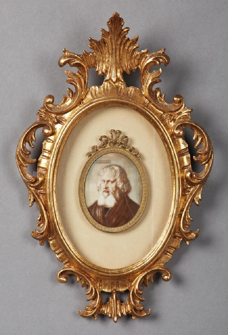 "French School, ""Portrait of a Bearded Man,"" 19th c.,"