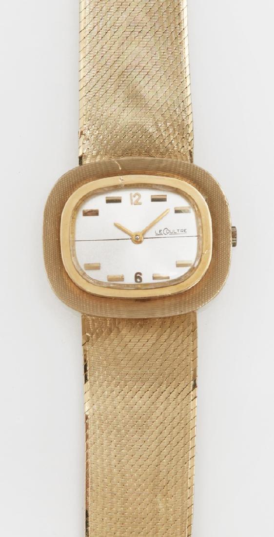 Vintage 14K Yellow Gold Le Coultre Quartz Wristwatch,