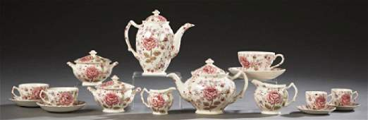 Forty-Four Piece Set of English Rose Chintz China, 20th