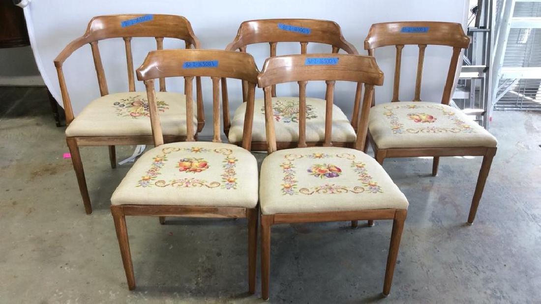 5 Vintage Mid century Modern TOMLINSON Chairs Five
