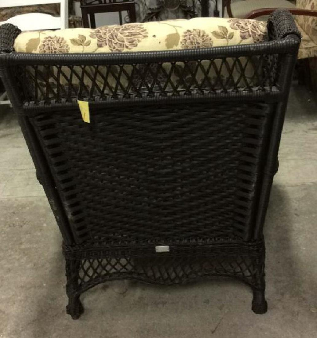 EBEL Set Black Heavy Woven Wicker  Club Chair and Loumg - 4