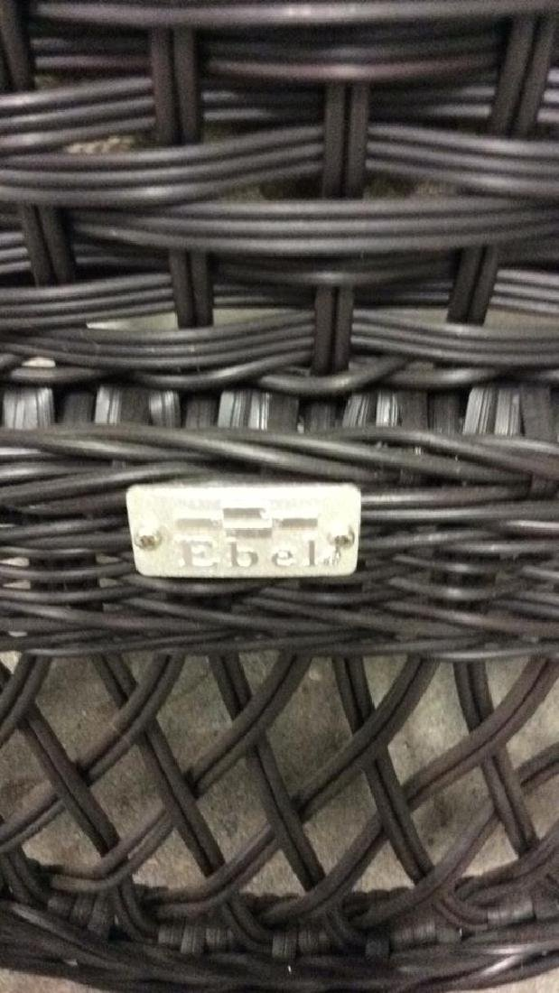 EBEL Set Black Heavy Woven Wicker  Club Chair and Loumg - 5