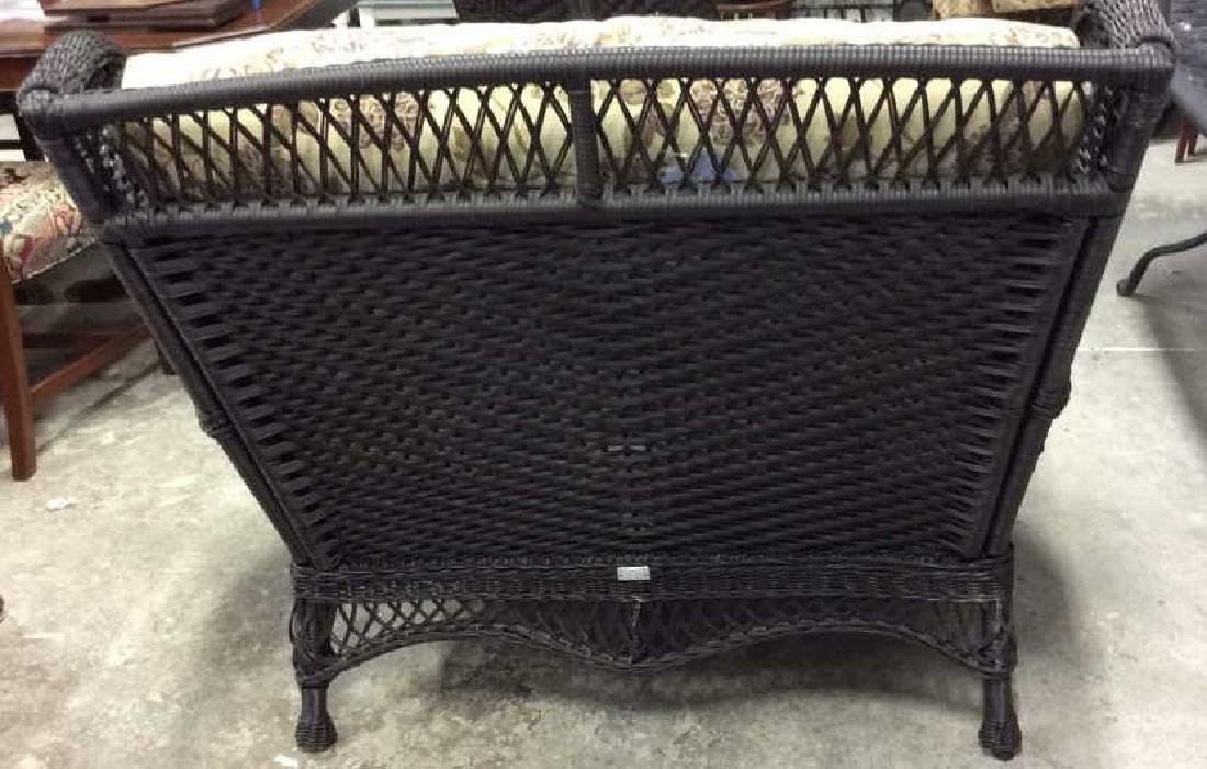EBEL Set Black Heavy Woven Wicker  Club Chair and Loumg - 9