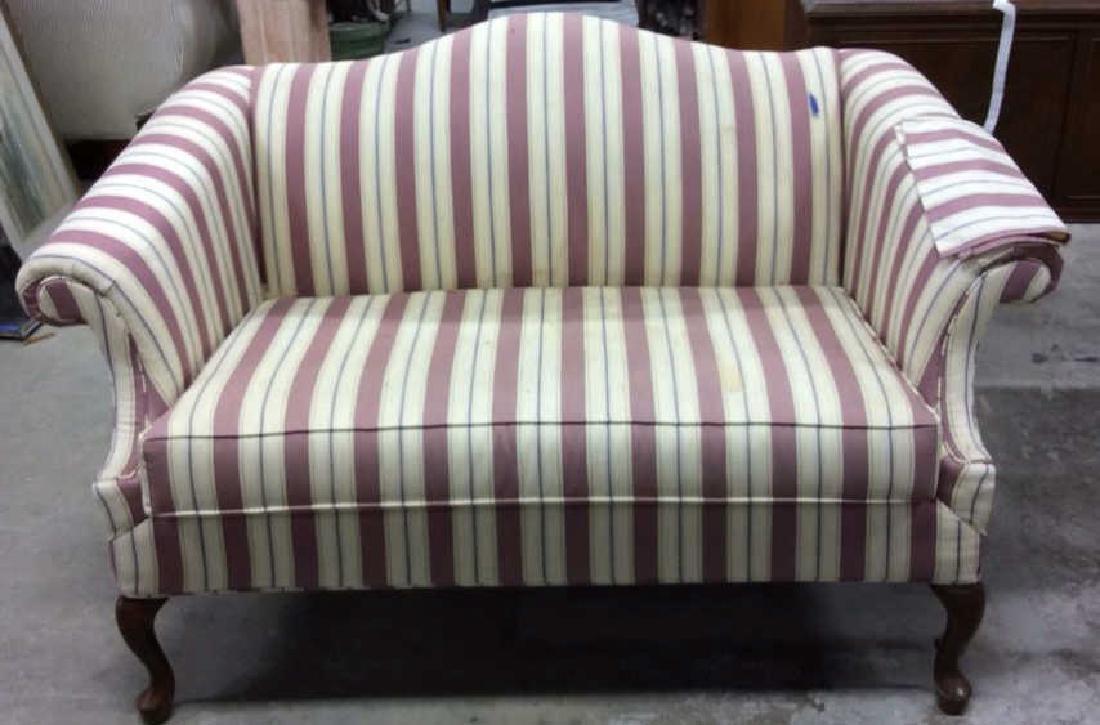 Vintage Camelback Setee, loveseat, sofa Chippendale