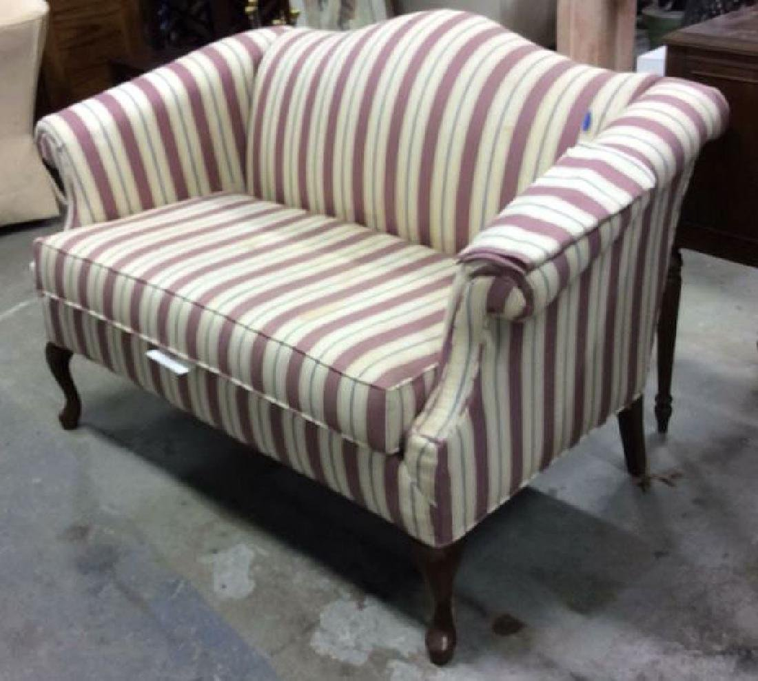 Vintage Camelback Setee, loveseat, sofa Chippendale - 2