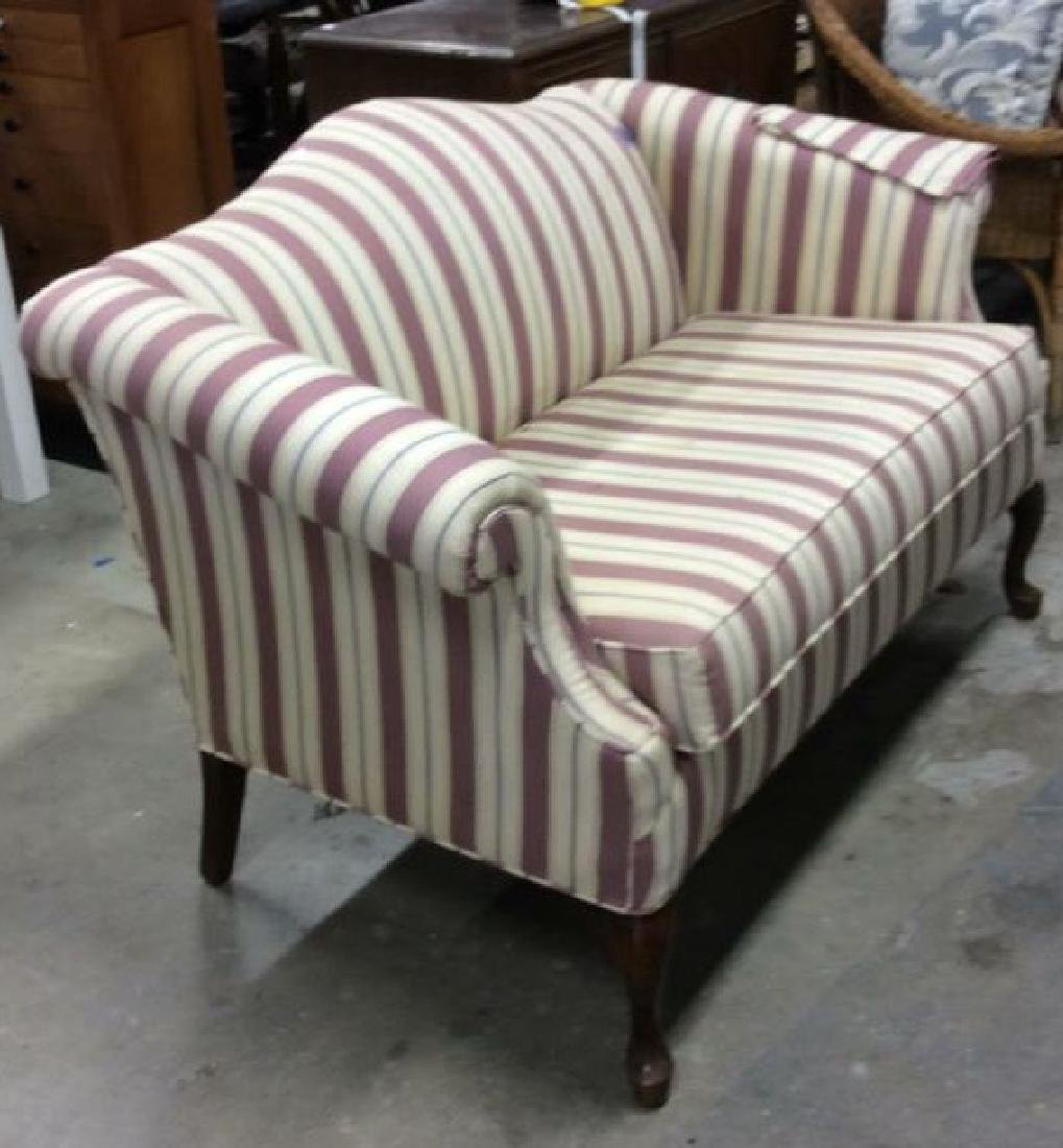 Vintage Camelback Setee, loveseat, sofa Chippendale - 4
