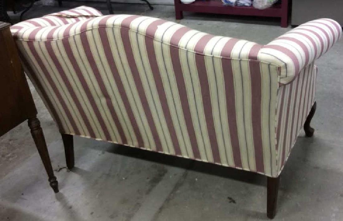 Vintage Camelback Setee, loveseat, sofa Chippendale - 5