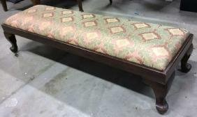 Newly Upholstered Vintage Prayer Bench Long low Bench