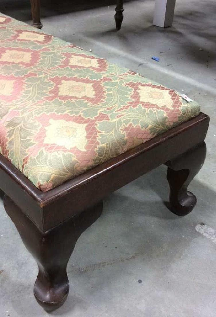 Newly Upholstered Vintage Prayer Bench Long low Bench - 3