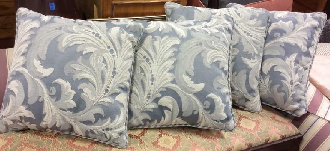 4 Linen throw pillows Linen cotton blend fabric pale