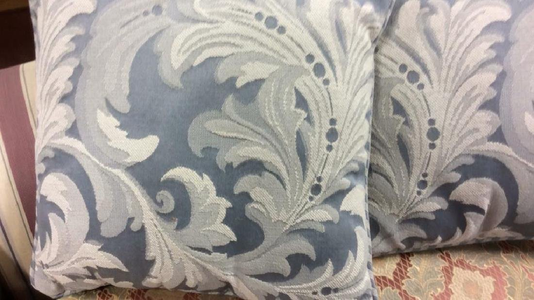 4 Linen throw pillows Linen cotton blend fabric pale - 2