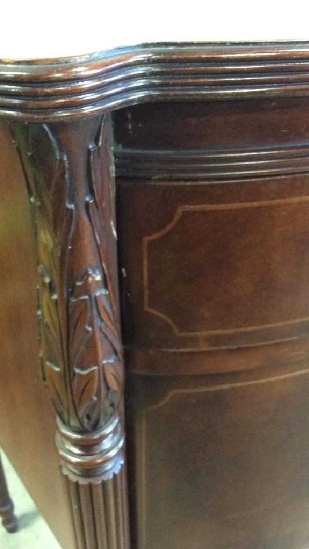 Vintage Serpentine Sheraton Style Buffet Flame Mahogany - 8