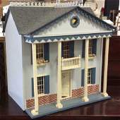 Vintage Hand Made Wood Doll House Hand made hand