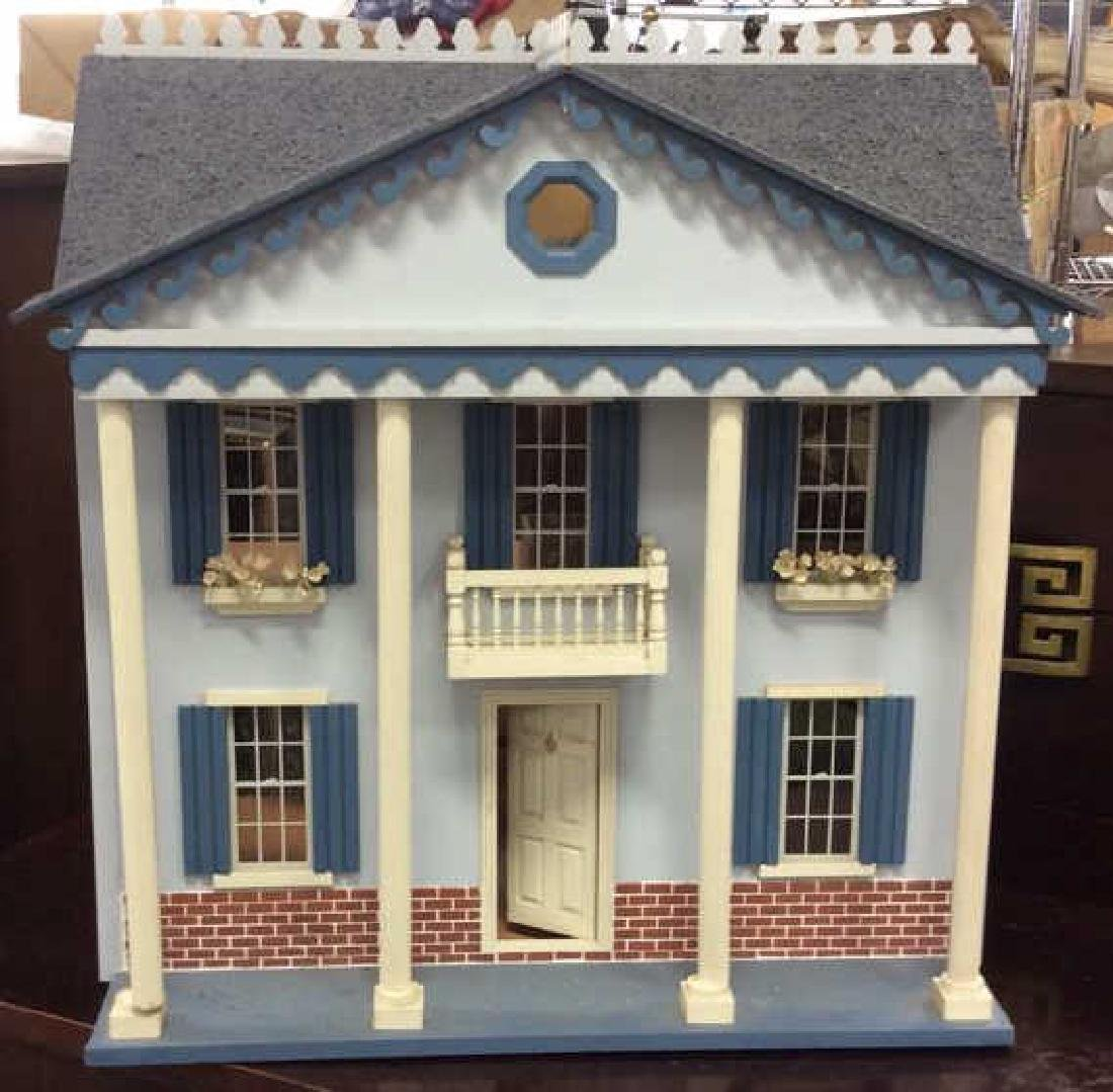 Vintage Hand Made Wood Doll House Hand made hand - 2