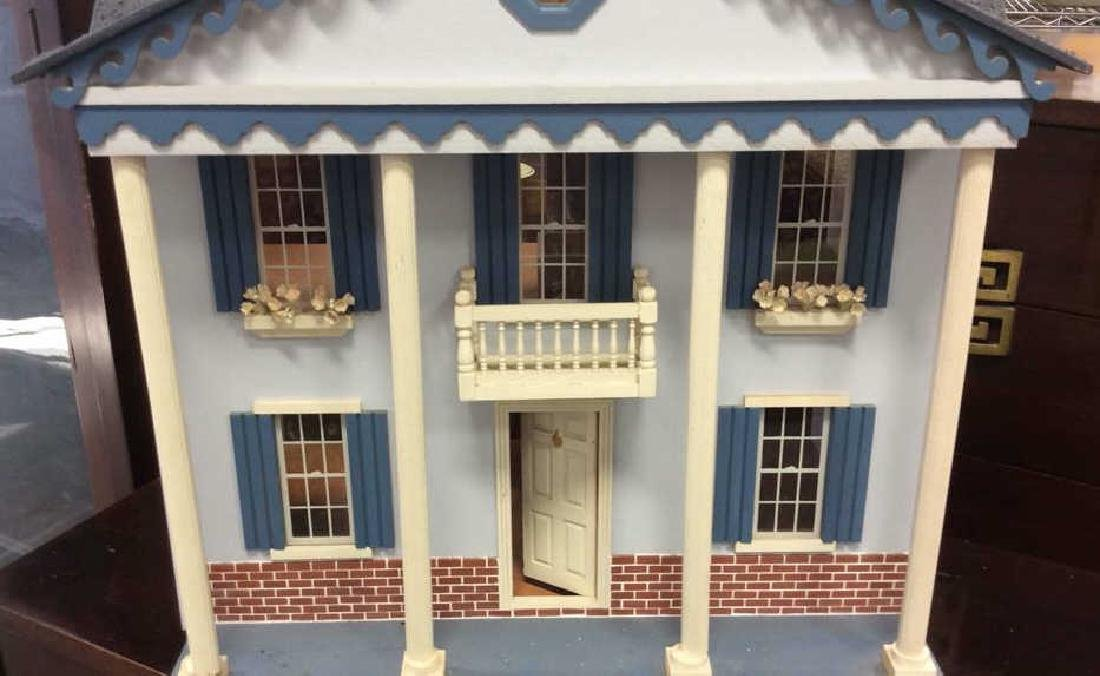 Vintage Hand Made Wood Doll House Hand made hand - 3