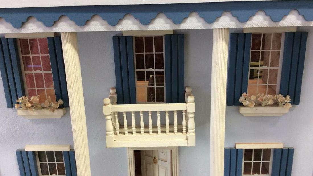 Vintage Hand Made Wood Doll House Hand made hand - 6