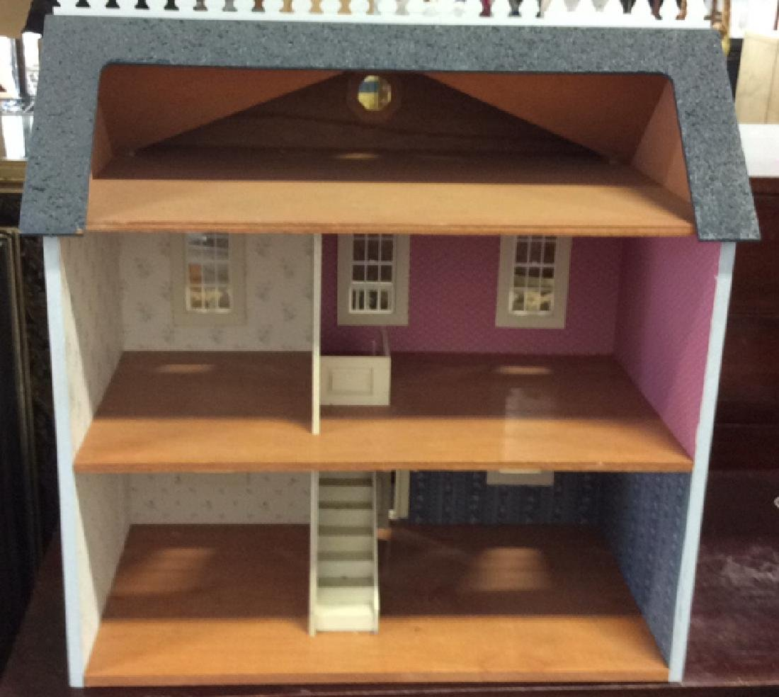 Vintage Hand Made Wood Doll House Hand made hand - 7