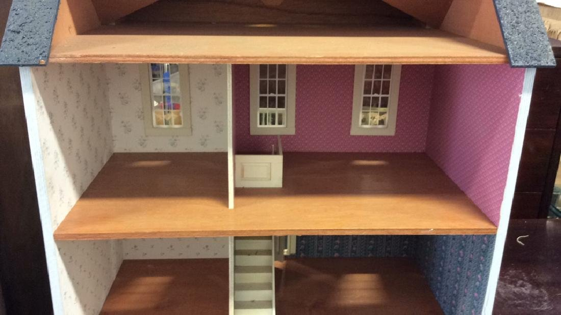 Vintage Hand Made Wood Doll House Hand made hand - 8