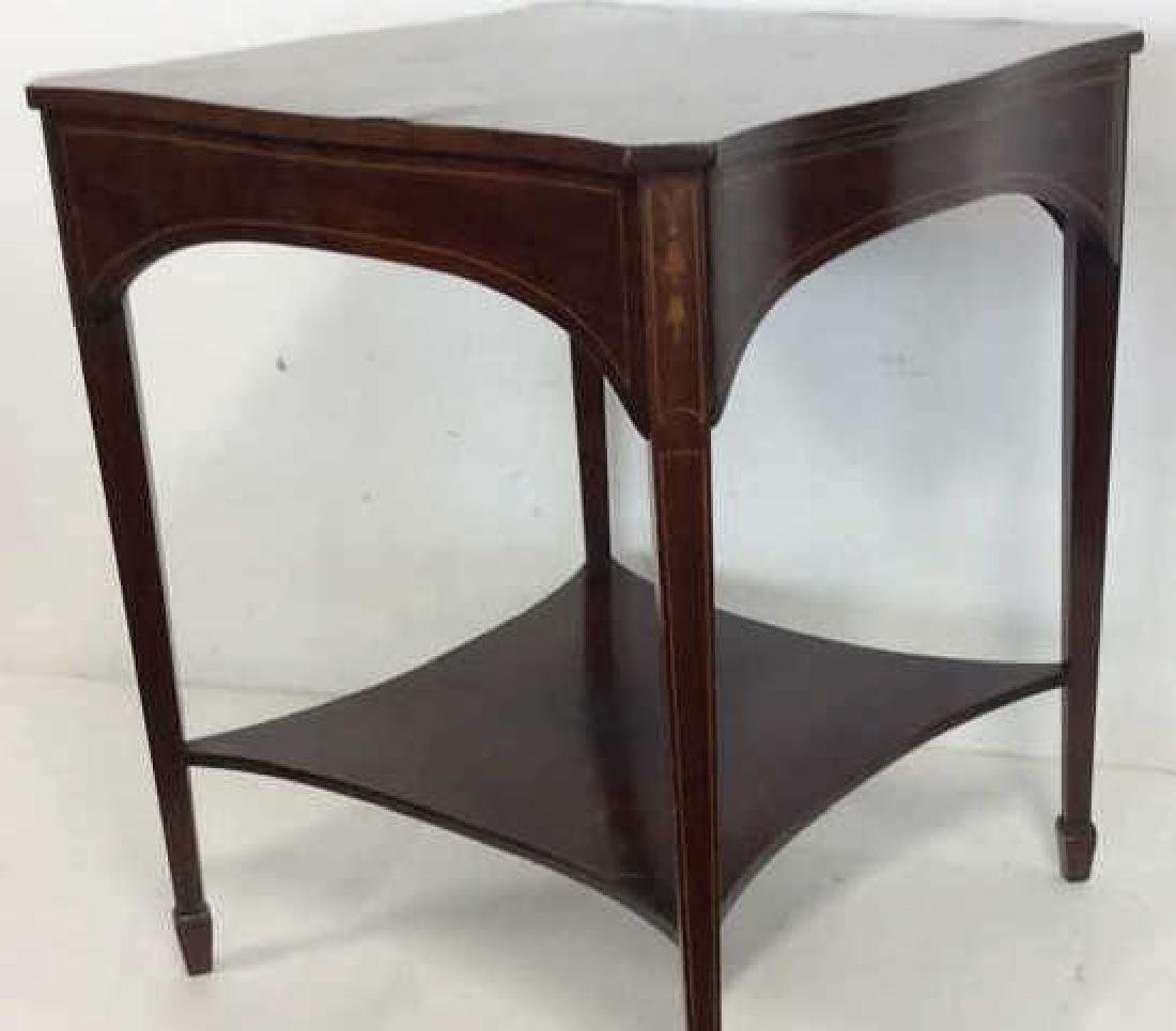Charak signed hand made End Table inlaid Inlaid