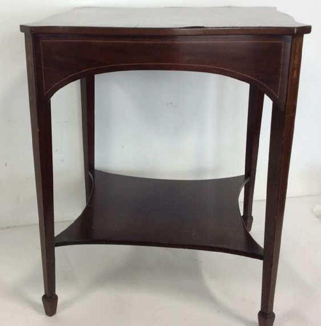 Charak signed hand made End Table inlaid Inlaid - 3