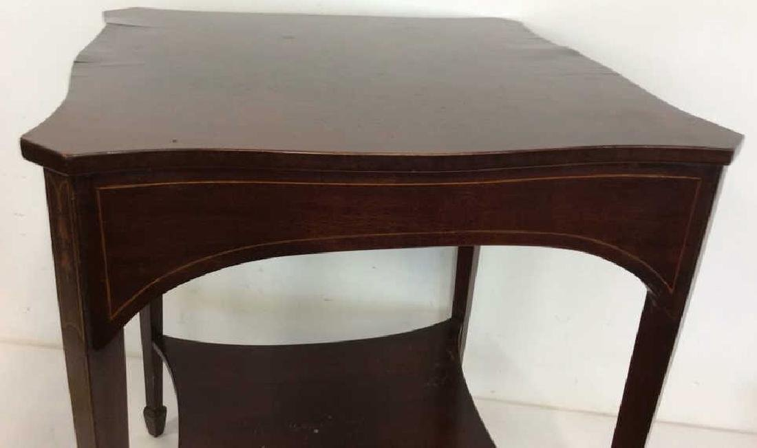 Charak signed hand made End Table inlaid Inlaid - 5