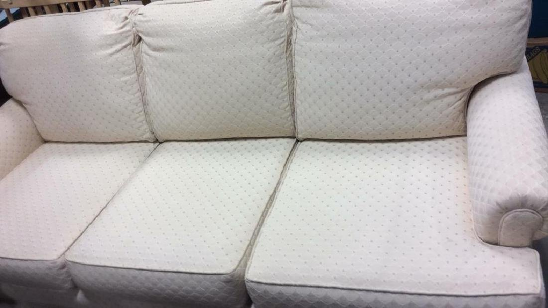Conover Cream Upholstered Sofa Upholstered sofa in off - 2