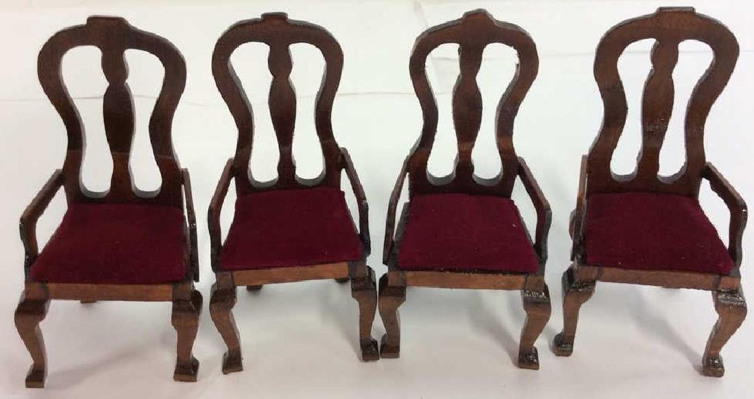 Vintage Wood Doll House Furniture Queen ANne Style Doll - 4
