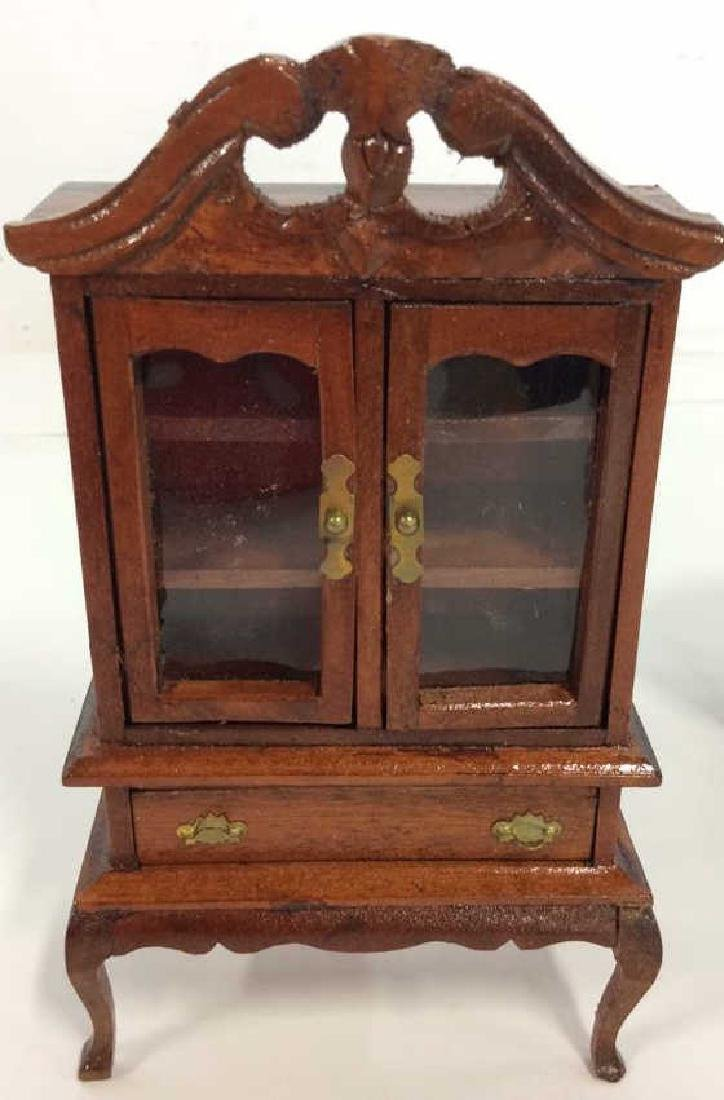 Vintage Wood Doll House Furniture Queen ANne Style Doll - 6