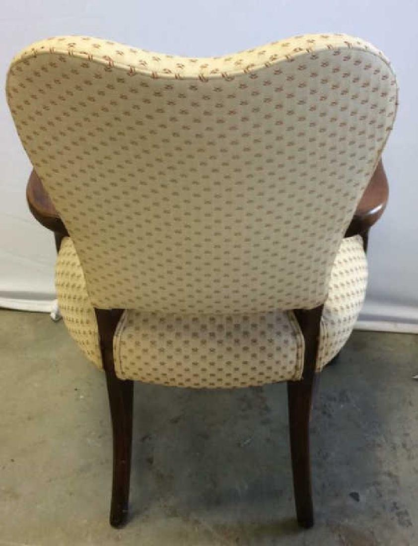 Vintage Walnut Upholstered Arm Chair Carved arm chair - 6