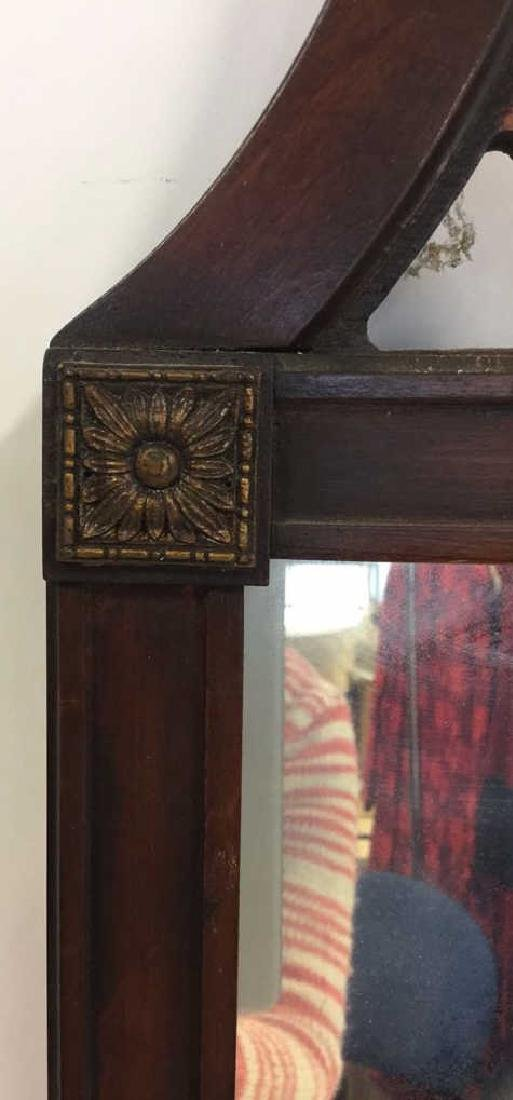 Vintage Lattice Framed Carved Wood Mirror Vintage wood - 4