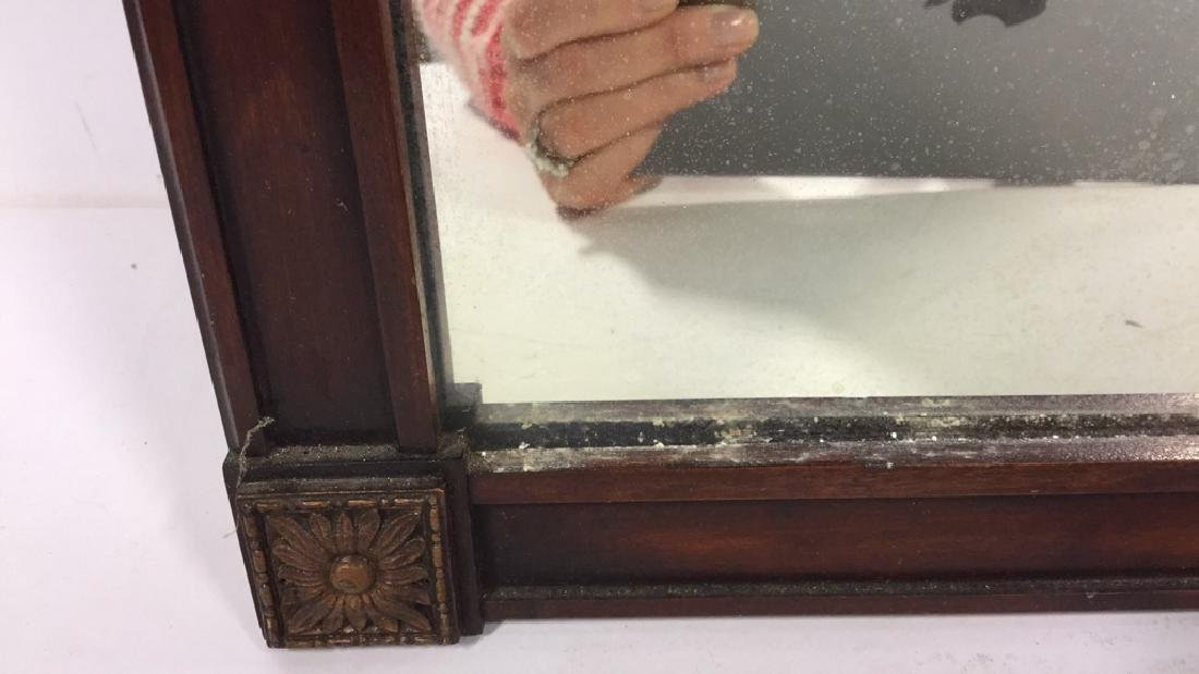 Vintage Lattice Framed Carved Wood Mirror Vintage wood - 6