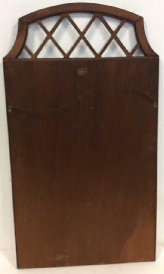 Vintage Lattice Framed Carved Wood Mirror Vintage wood - 8