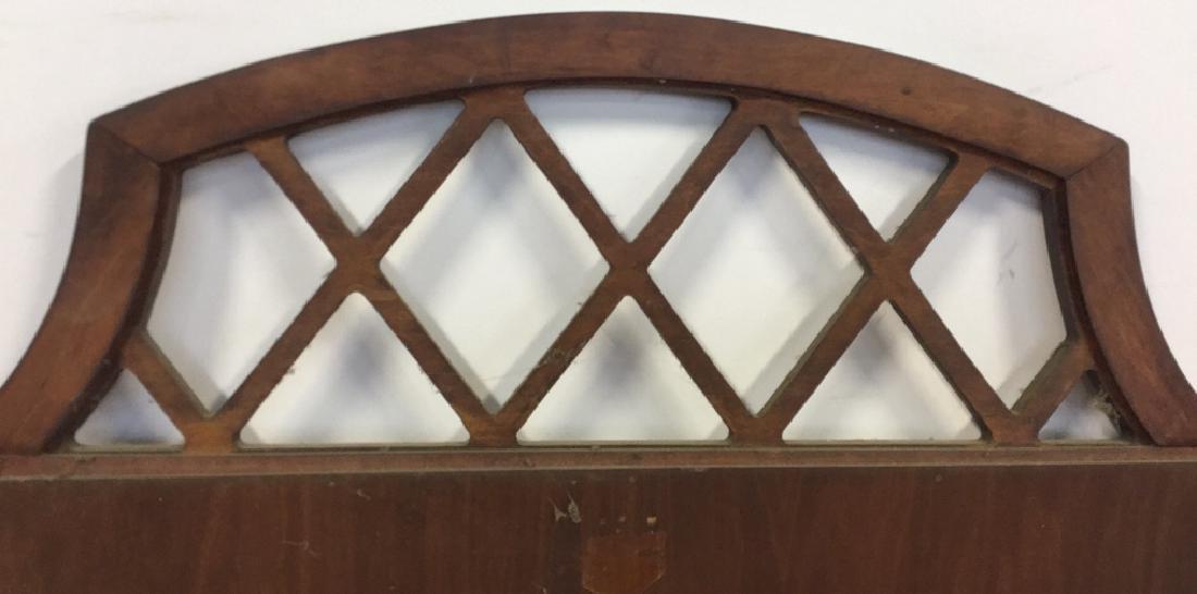Vintage Lattice Framed Carved Wood Mirror Vintage wood - 9