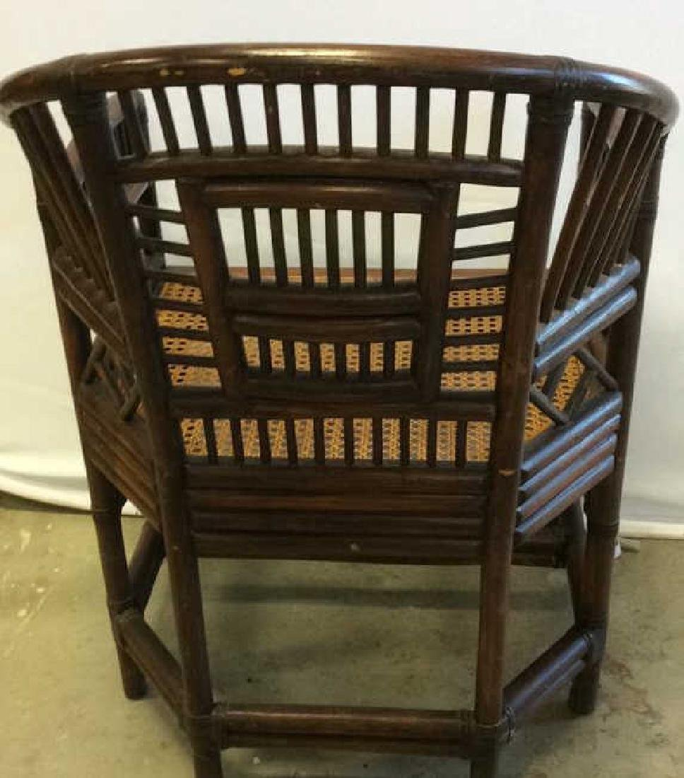 Vintage Bamboo Caned Arm Chair Vintage chocolate brown - 4