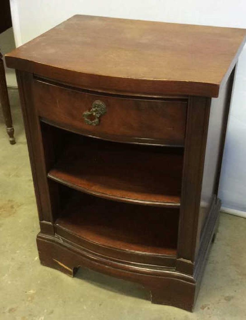 Single Drawer and shelves Mahogany end table End table