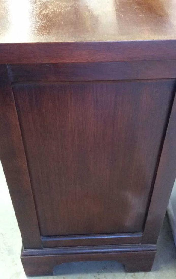 Single Drawer and shelves Mahogany end table End table - 3