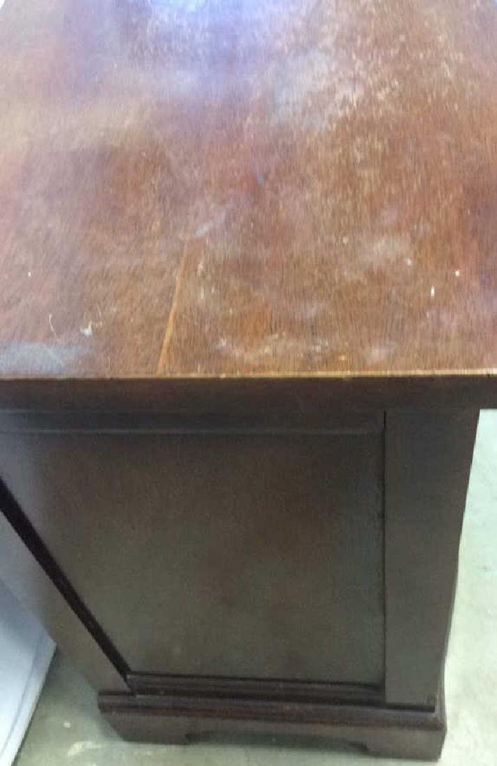 Single Drawer and shelves Mahogany end table End table - 4