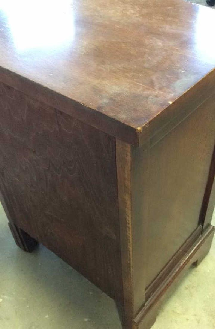 Single Drawer and shelves Mahogany end table End table - 5