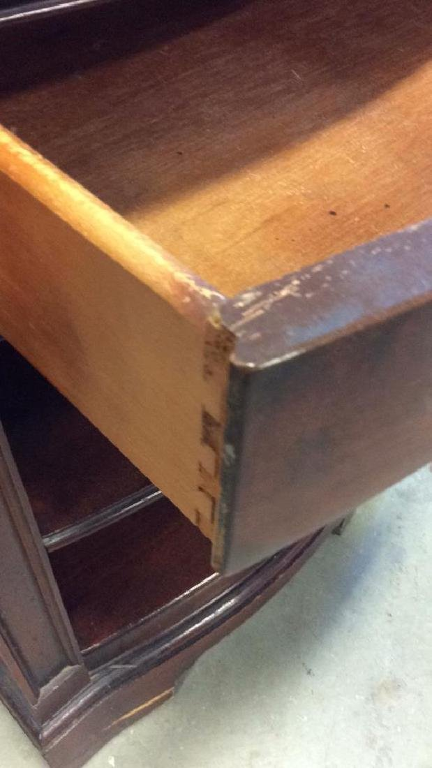 Single Drawer and shelves Mahogany end table End table - 6