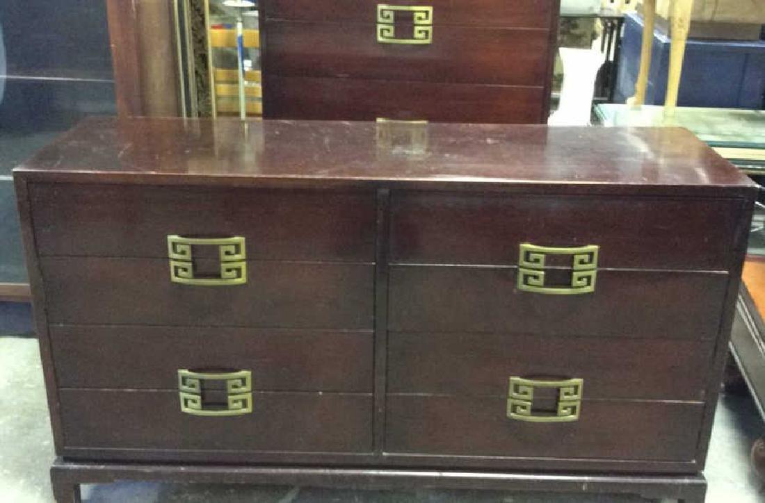 Vintage Set 2 Dressers Morgan Furniture Co Asian style