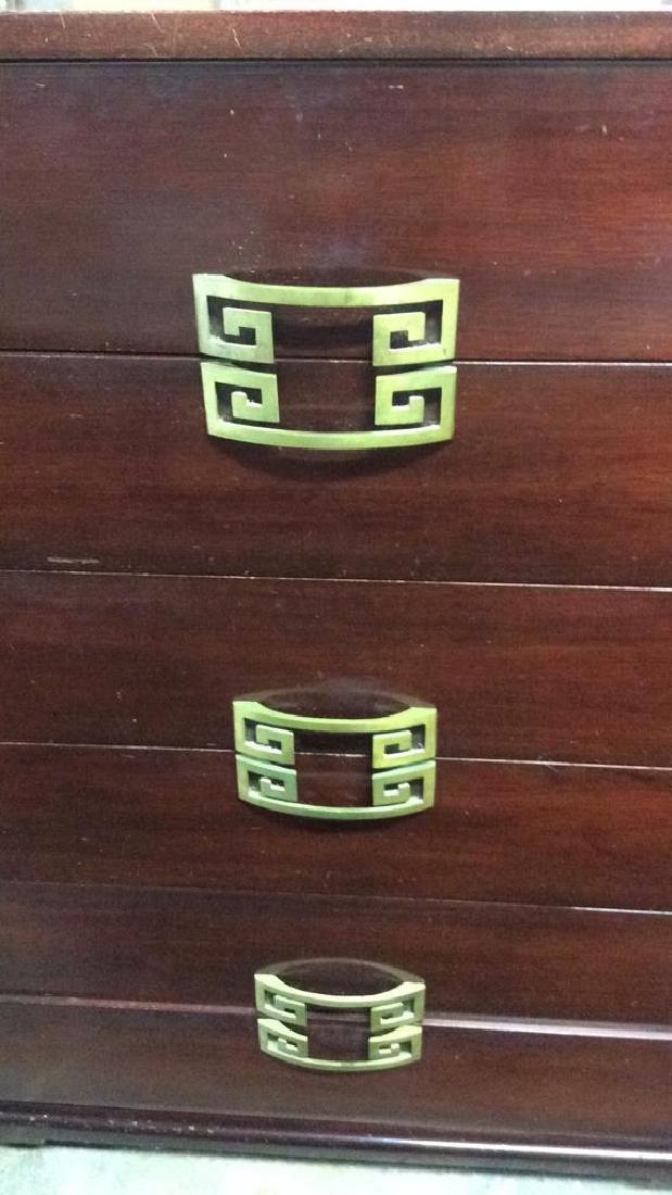 Vintage Set 2 Dressers Morgan Furniture Co Asian style - 4