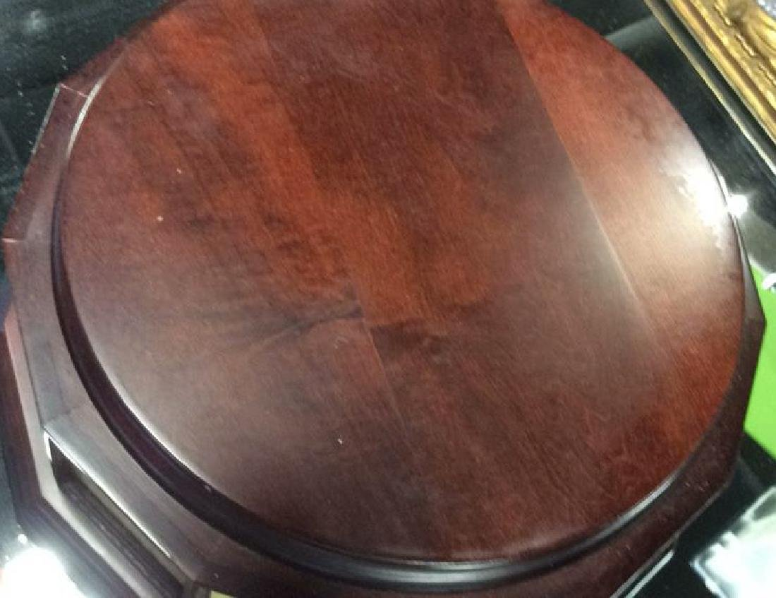 13 Sided Mahogany Display Stand Circular for with 13 - 6